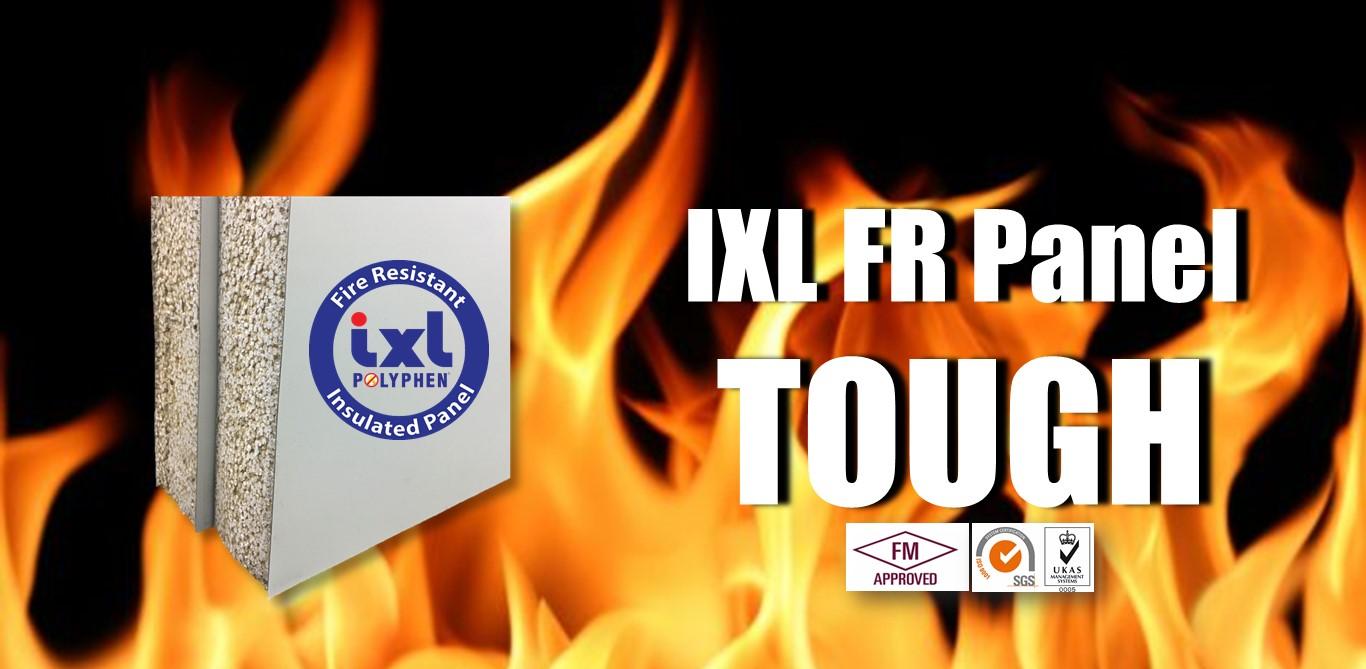 แผ่นฉนวนทนไฟ IXL FR Panel with Polyphen Core